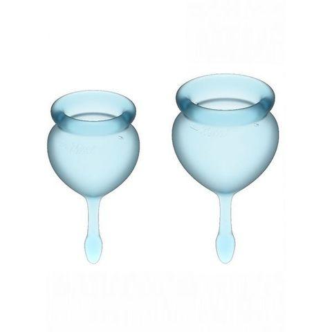 Satisfyer Feel good Набор менструальных чаш Светло-голубой