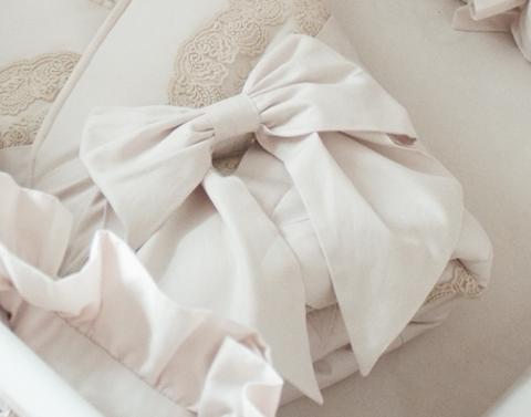 Бант на одеяло- конверт Жемчуг