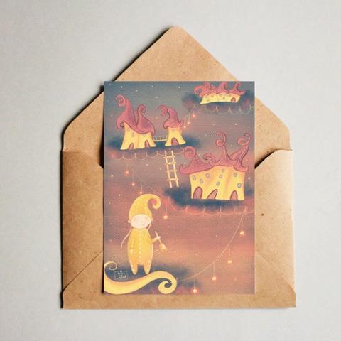 Фотография Открытка авторская почтовая «Закат» / 10*15 см купить в магазине Афлора