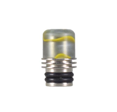 Drip-Tip Acrylic + SS 17.5mm сер. с жёлт.