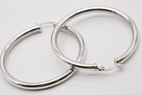 Серьги из серебра 925 пробы без вставок