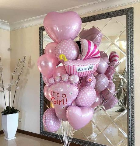 Набор воздушных шаров на выписку для девочки №5
