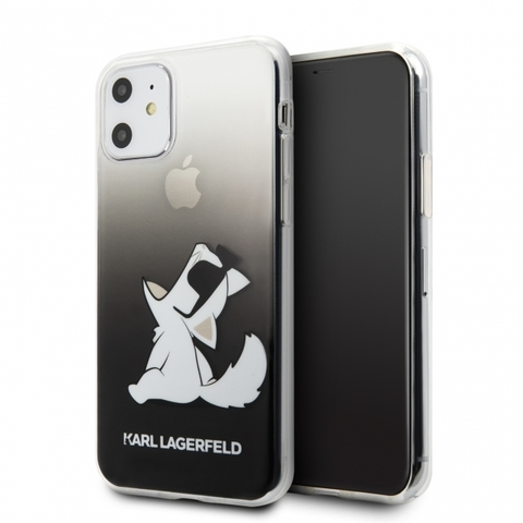 Karl Lagerfeld / Чехол для телефона iPhone 11 | TPU/PC collection Choupette Fun Hard Gradient Black
