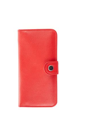 Клатч на кнопке мини с обработанными краями, красный