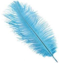 Перья декоративные, Голубые 10 см, 30 шт, 1 уп.