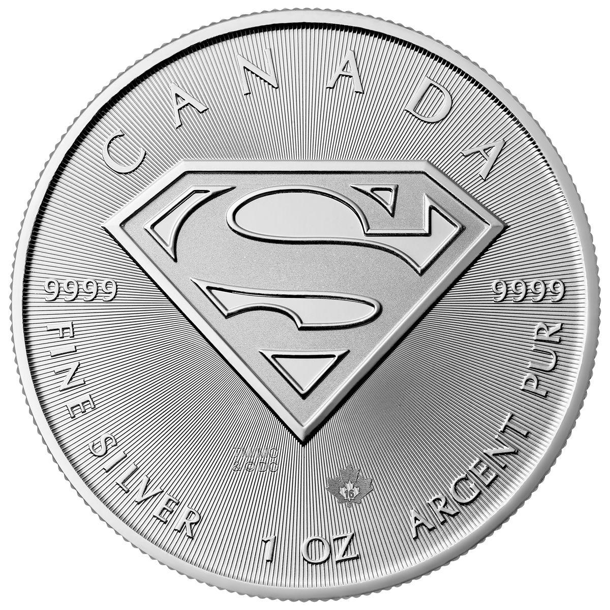 """5 долларов Канада 2016 """"Супермен"""" Канада"""