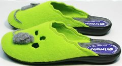 Модные женские тапочки Inblu NC- 1B Mouse Light Green