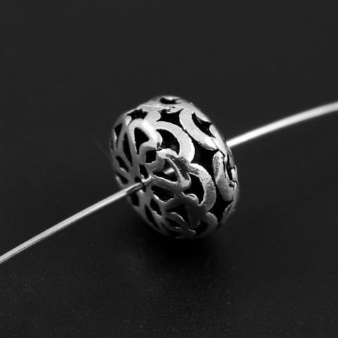 Бусина Арабика 11х,6,5 мм серебро 925