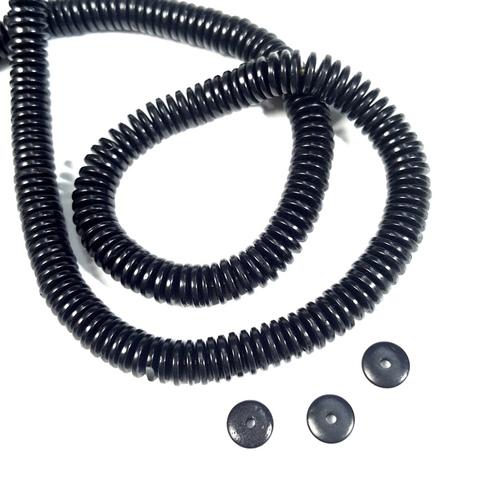 Бусина из Кокоса рондель 8х2 мм цвет черный 1 бусина