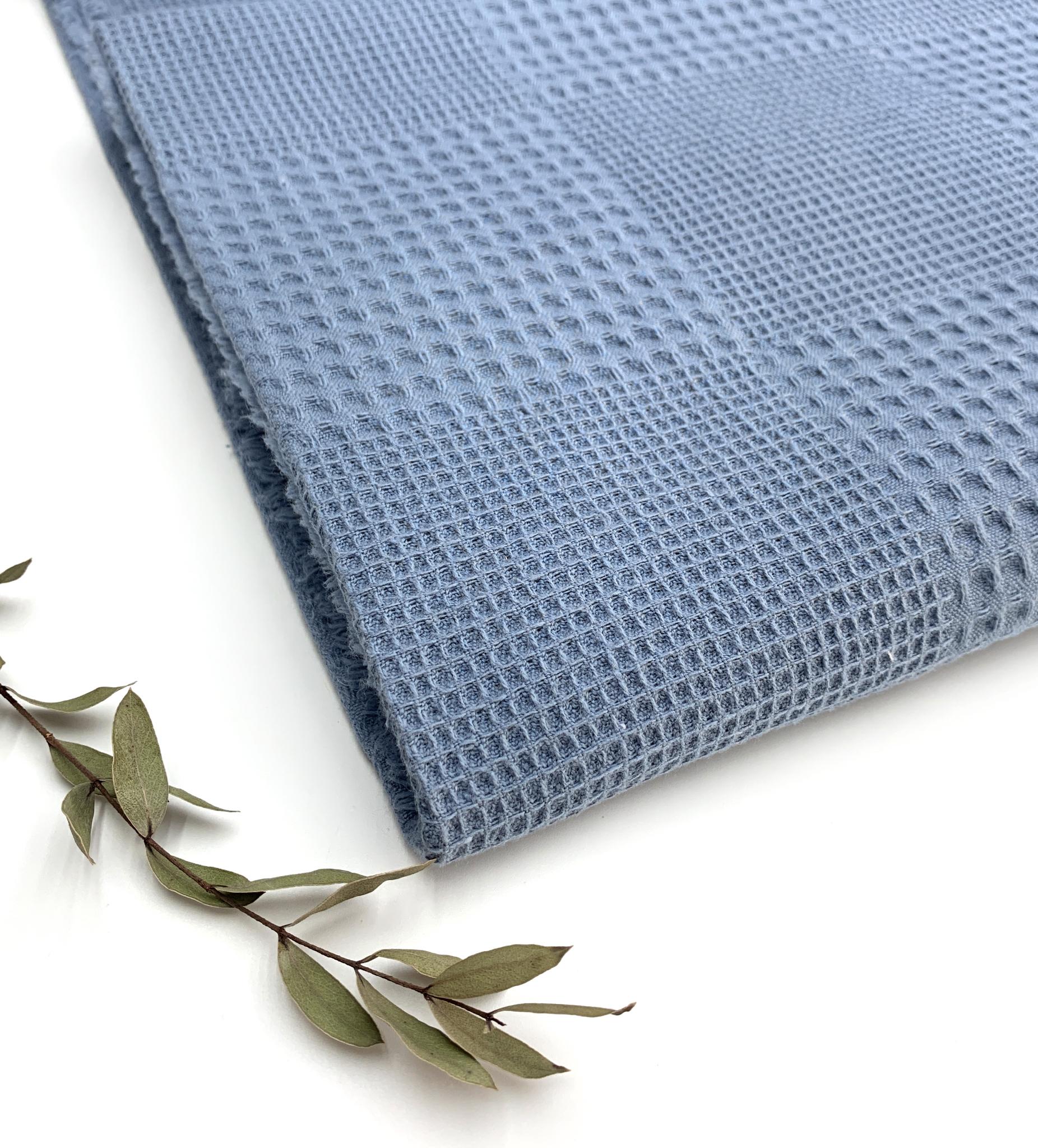 Вафельная ткань,индиго,Турция,228 см