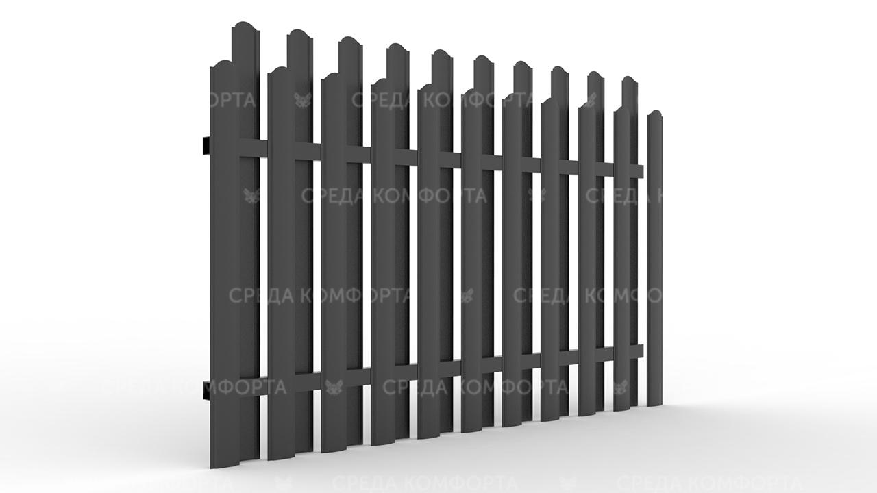 Забор из евроштакетника ZBR0050