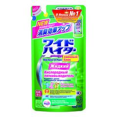 Жидкий кислородный отбеливатель и пятновыводитель Kao Wide haiter EX для цветного белья 480 мл