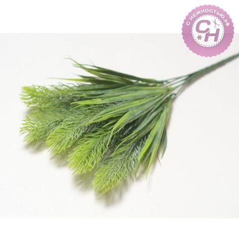 Искусственная зелень с колосками, букет 5 веток, 35 см.