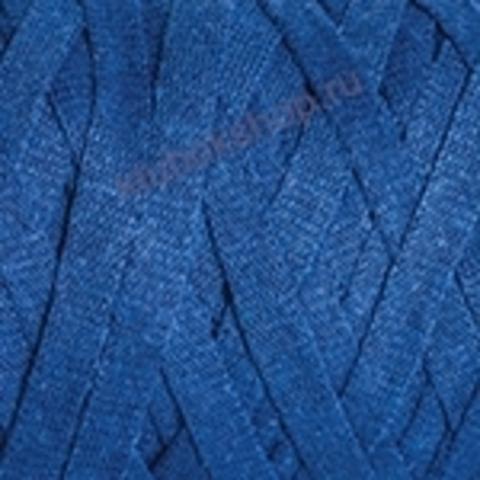 Ленточная пряжа YarnArt Ribbon цвет 772 темно-голубой