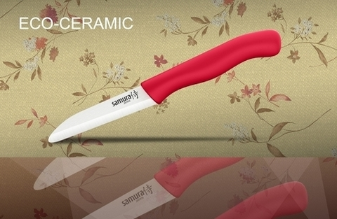 SC-0011RED Фрутоножик керамический Samura Eco-Ceramic