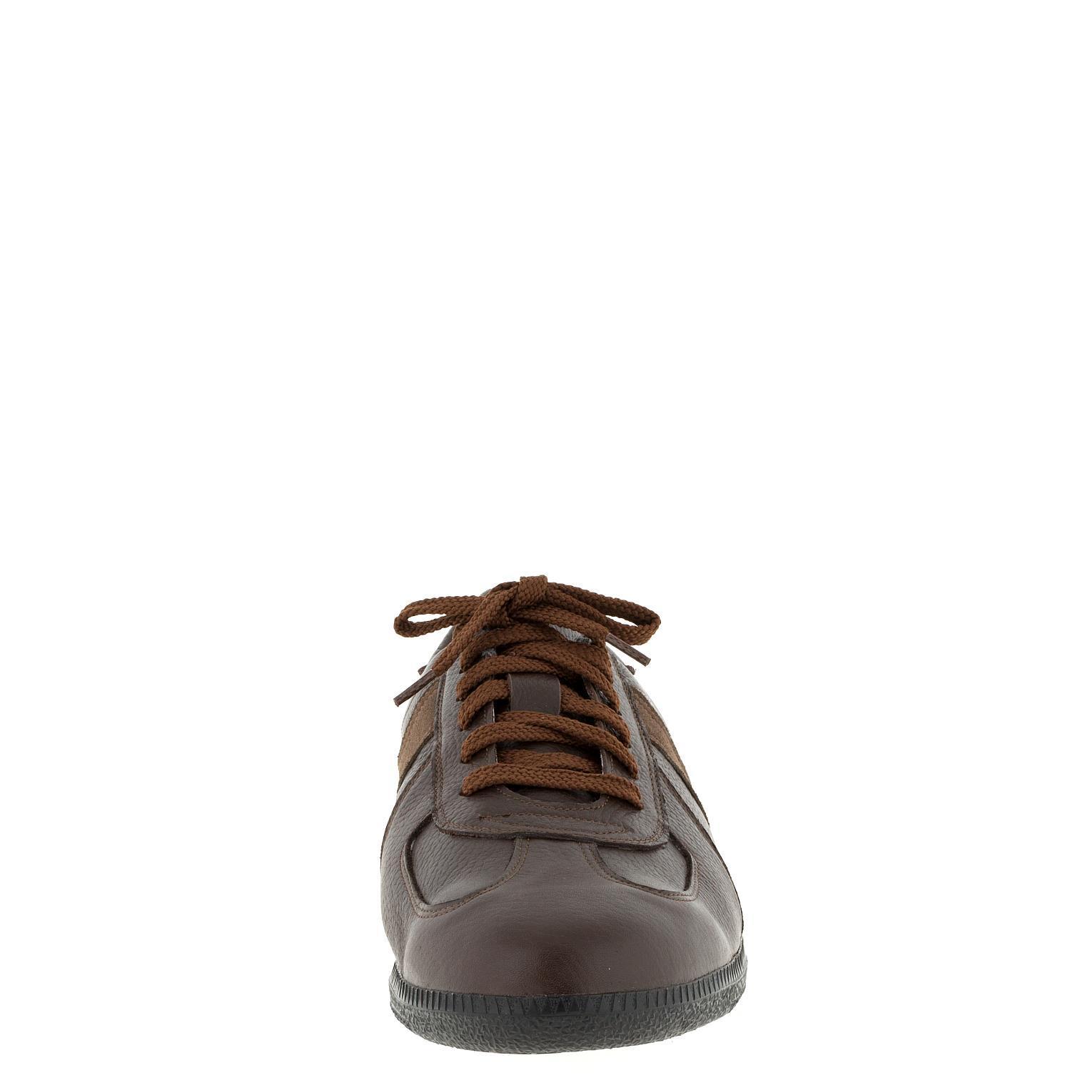 556396 Brown полуботинки мужские больших размеров марки Делфино