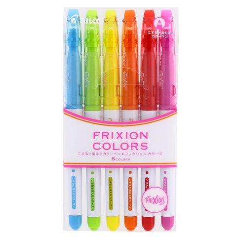 Стираемые маркеры Pilot FriXion Colors (6 цветов — набор №1)