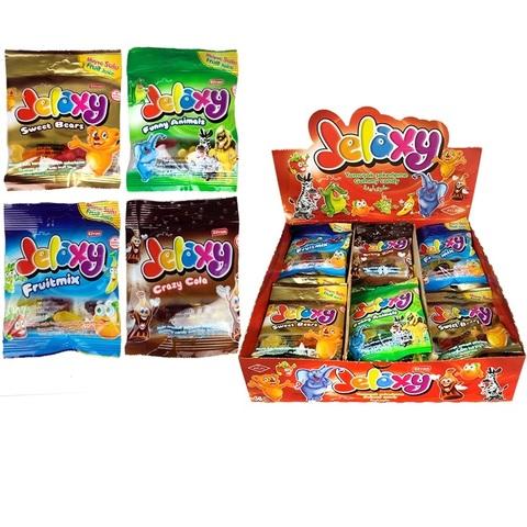 'Jelaxy Mix (36х8)  Жевательный мармелад с фруктовым соком в ассортименте 1кор*8бл*36шт, 20гр