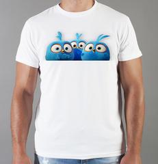 Футболка с принтом мультфильма Angry Birds (Энгри Бердс), белая 001