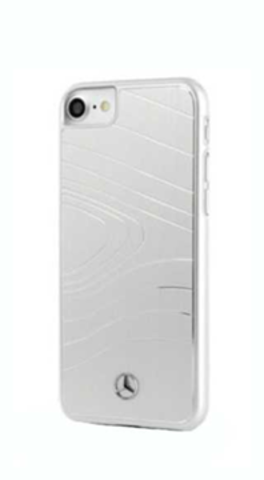 Mercedes / чехол для телефона iPhone 7/8/SE 2020 | Organic lll Hard Brushed aluminium Silver