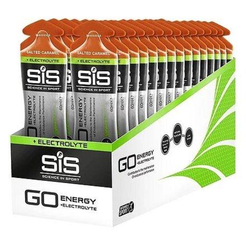 Гель углеводный с электролитами SiS Go + Electrolyte Gel Упаковка 30х60ml, Соленая карамель