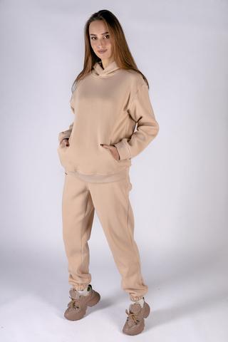 Теплый женский спортивный костюм бежевый Nadya