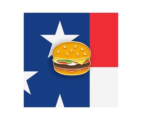 Значок металлический Еда: Бургер