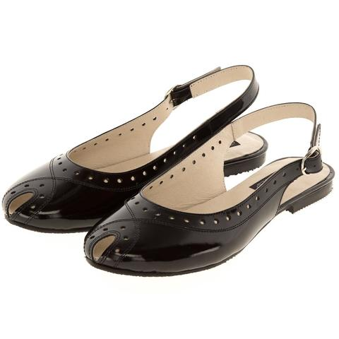 631198 туфли летние женские черный лак. КупиРазмер — обувь больших размеров марки Делфино