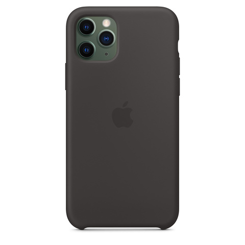 Чехол iPhone 11 Pro Max Silicone Case /black/ черный 1:1