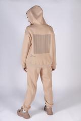Теплый женский спортивный костюм бежевый купить