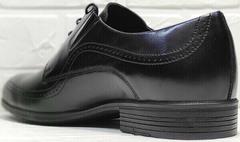 Модельные туфли черные мужские Ikoc 3416-1 Black Leather.