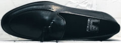Мужские классические туфли лоферы натуральная кожа Luciano Bellini 91178-E-212 Black.