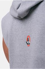 Мужская футболка Nebbia Golden Era ragtop hoodie 197 light grey