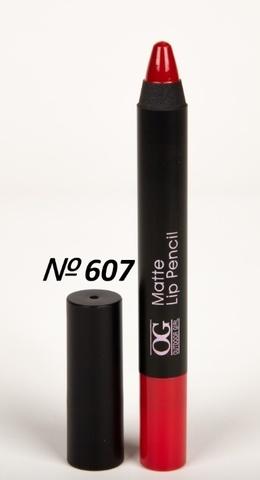 OG-FP3011B Помада-карандаш тон 607 насыщенный красный МАТОВАЯ Matte Lip Pencil PRO