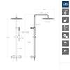 Душевая система с термостатом и тропическим душем для ванны DRAKO 335403RP300 - фото №2