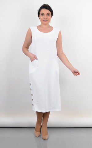 Венера. Жіноче плаття великого розміру. Білий.