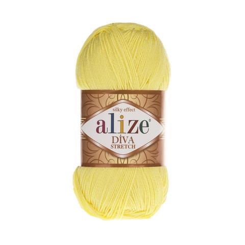 Пряжа Alize Diva Stretch лимон 643