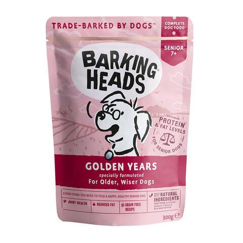 купить паучи для собак старше 7 лет Barking Heads Золотые годы 300 грамм