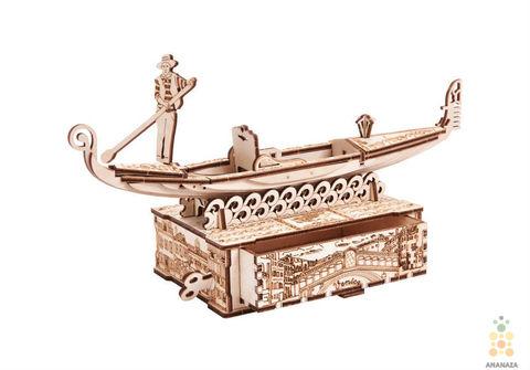 Гондола-шкатулка от WoodTrick - Сборная модель, деревянный конструктор, 3D пазл
