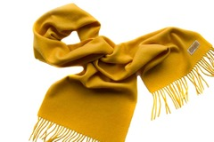 Шерстяной шарф, мужской ярко-горчичный 17101
