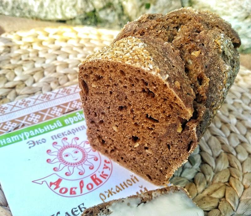 Фотография Хлеб ржаной на закваске «Чесночный» / 330-350 гр купить в магазине Афлора