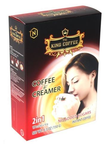 Растворимый кофе 2в1 TNI King Coffee. Коробка 48х15 штук.