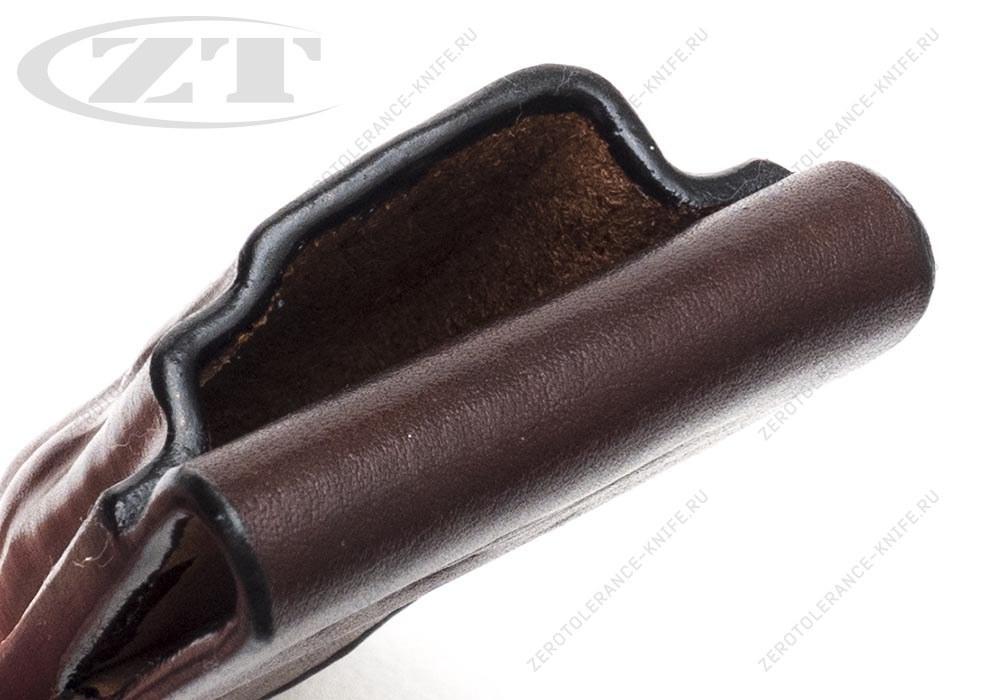 Чехол кожаный ZT 0562 коричневый - фотография