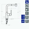 Смеситель для кухни с выдвижной лейкой YPSILON 661901H2 - фото №2