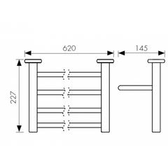 Полка с полотенцедержателем KAISER Vera BR KH-4709 схема