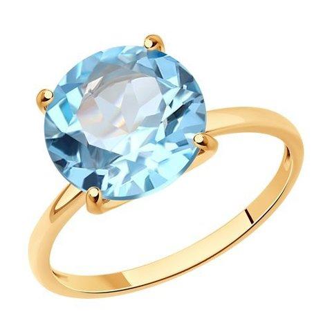 716712 - Кольцо из золота с топазом
