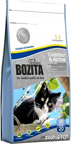 30220 BOZITA Funktion Outdoor&Active сух.корм д/Активных кошек 2кг*6 НОВИНКА