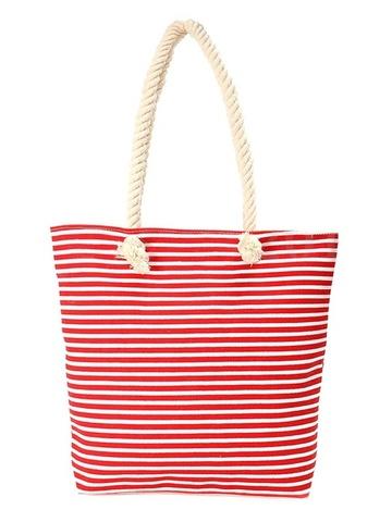 Купить Сумка летняя в морском стиле с канатиками (красная) в Магазине тельняшек