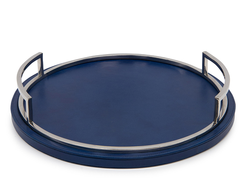 Deep Blue Round Tray
