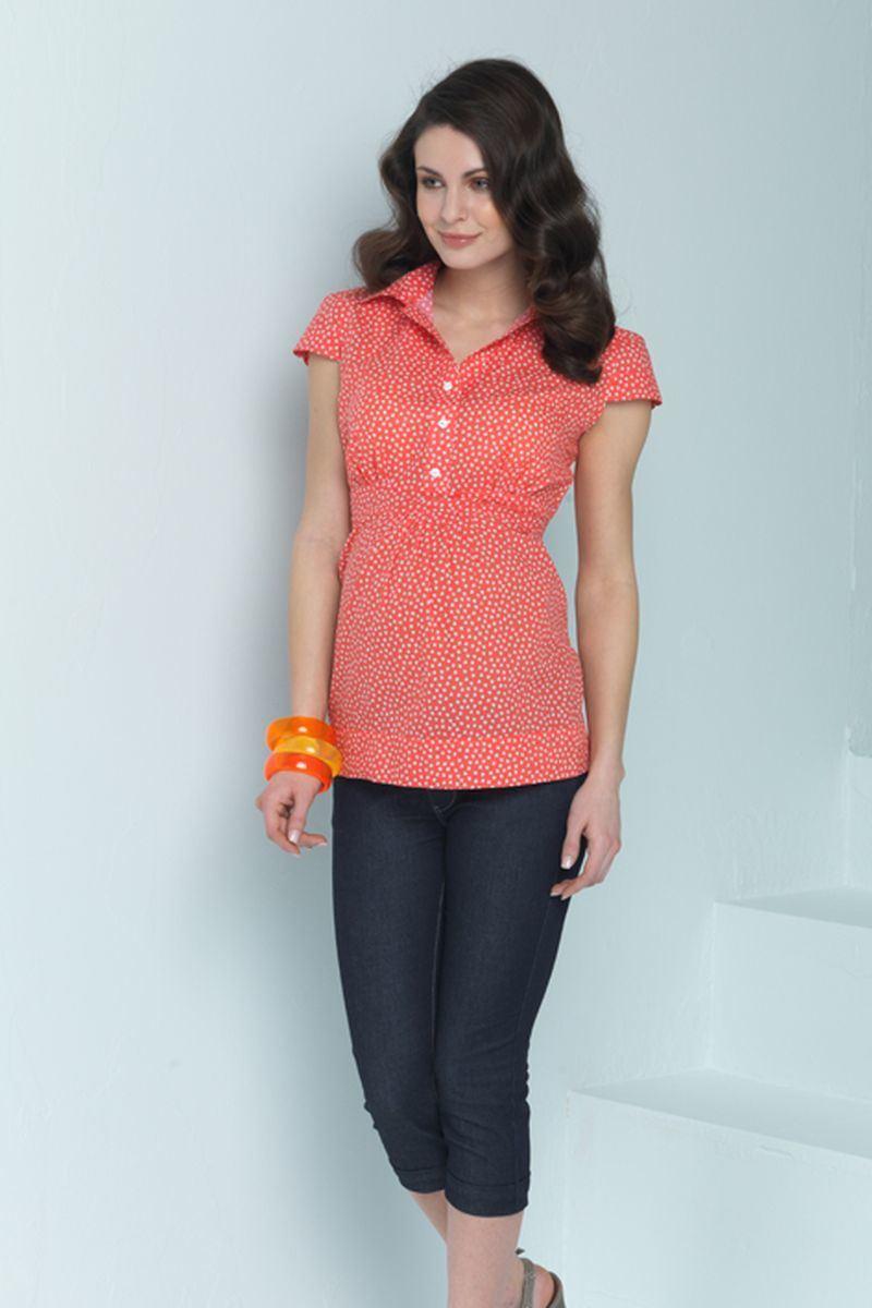 Блузка для беременных 01318 красный